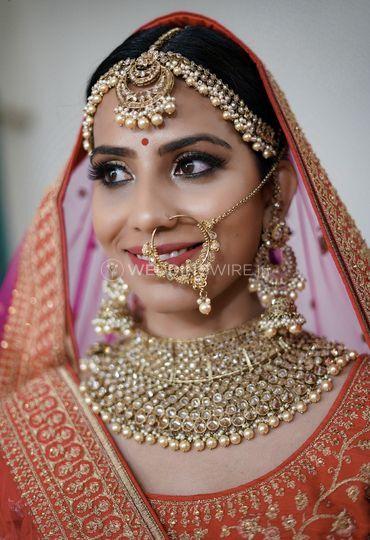Bridal makeup hairstyle