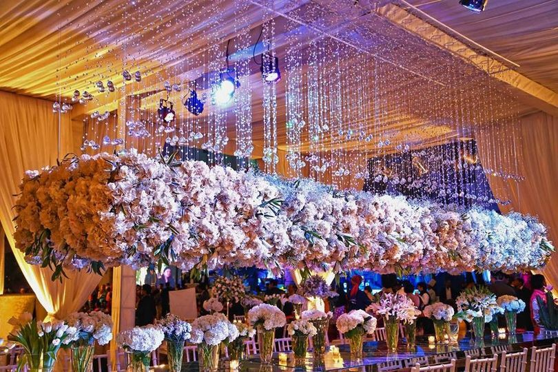 Wedding Floral Decor And Lighting From Ferns N Petals Florist