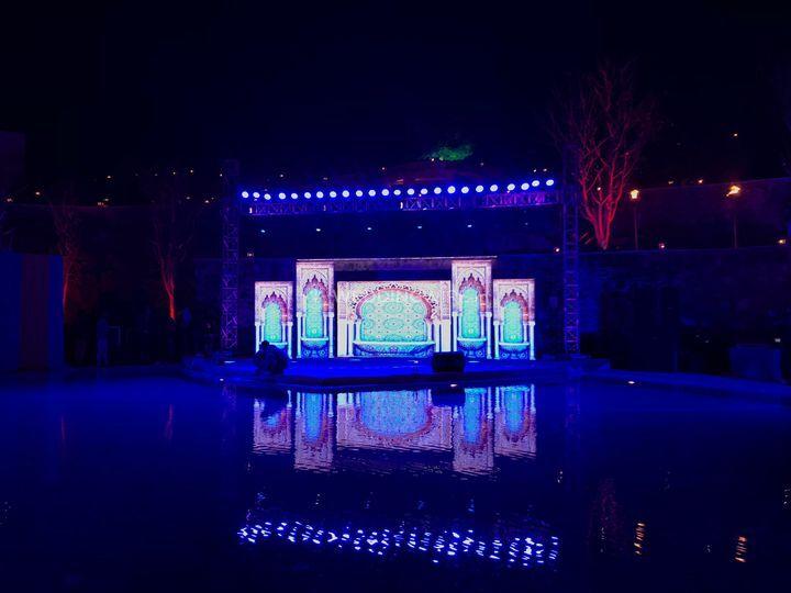 Set Up at Ramada Poolside