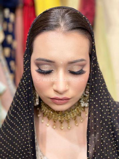 Black outfit bride