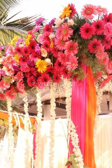 Floral entrance decor