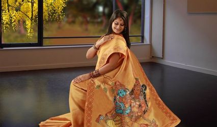 Bangalore Boutique Hand Painted Sarees