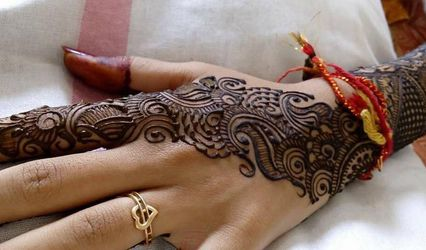 Perfect Mehandi Art by Vasanthi