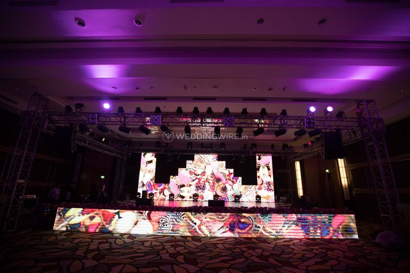 Sangeet Stage Backdrop from Show Makers | Photo 14