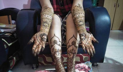 Artists Mehendi Designs By Vaishnavi Kodilkar