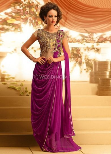 Sari inspired gown