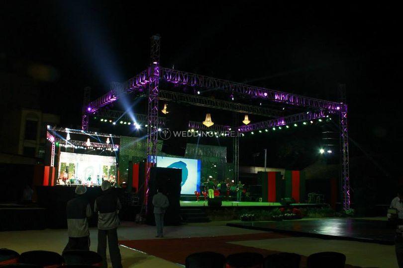 Sangeet lighting and decor