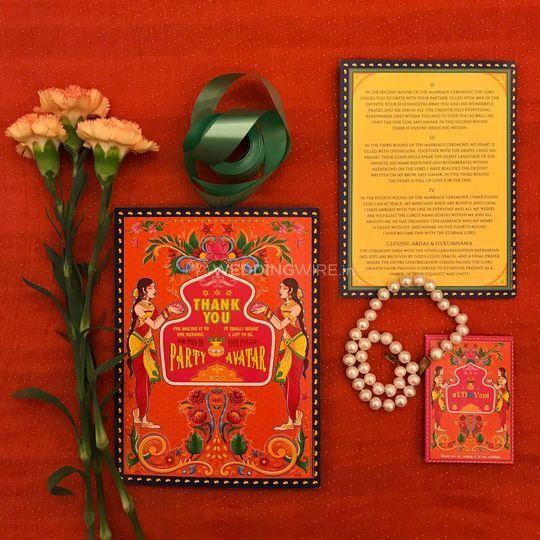 Quirky Wedding Card (