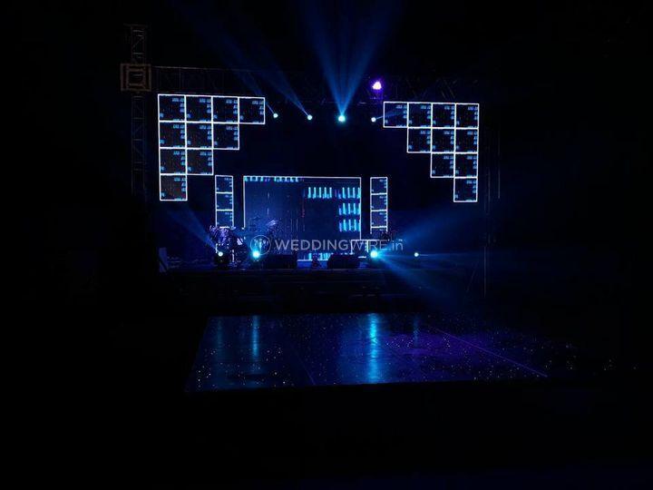 Lighting and sound setup