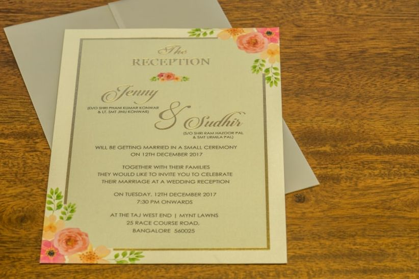 3 Expert Wedding Card Format 101 For Your Son Daughter S