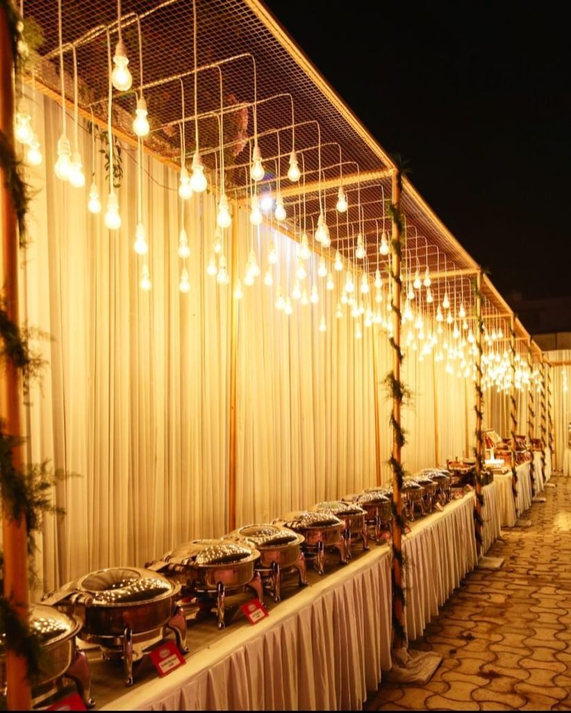 15 Outdoor Wedding Ideas That Are Totally Genius: 9 Indian Marriage Light Decoration Ideas That Will Breathe