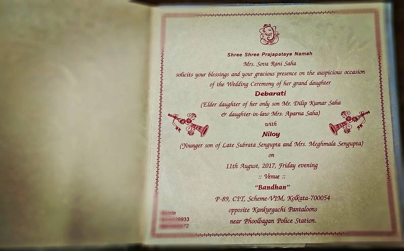 How To Frame Fun Witty And Creative Bengali Wedding Cards For Your