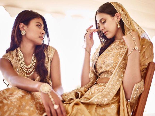 7 Stunning Golden Colour Wedding Sarees to Strike a Regal Look