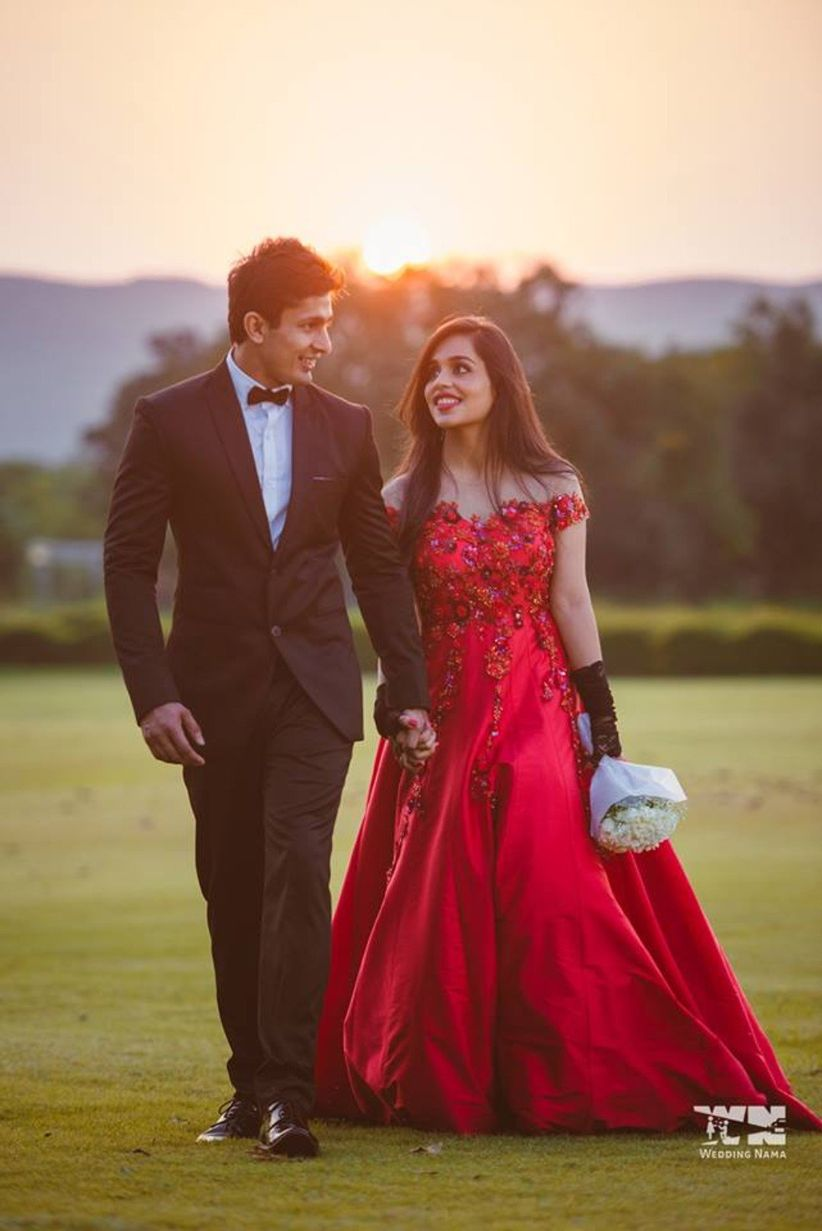 Red Indian Wedding Dresses for Reception