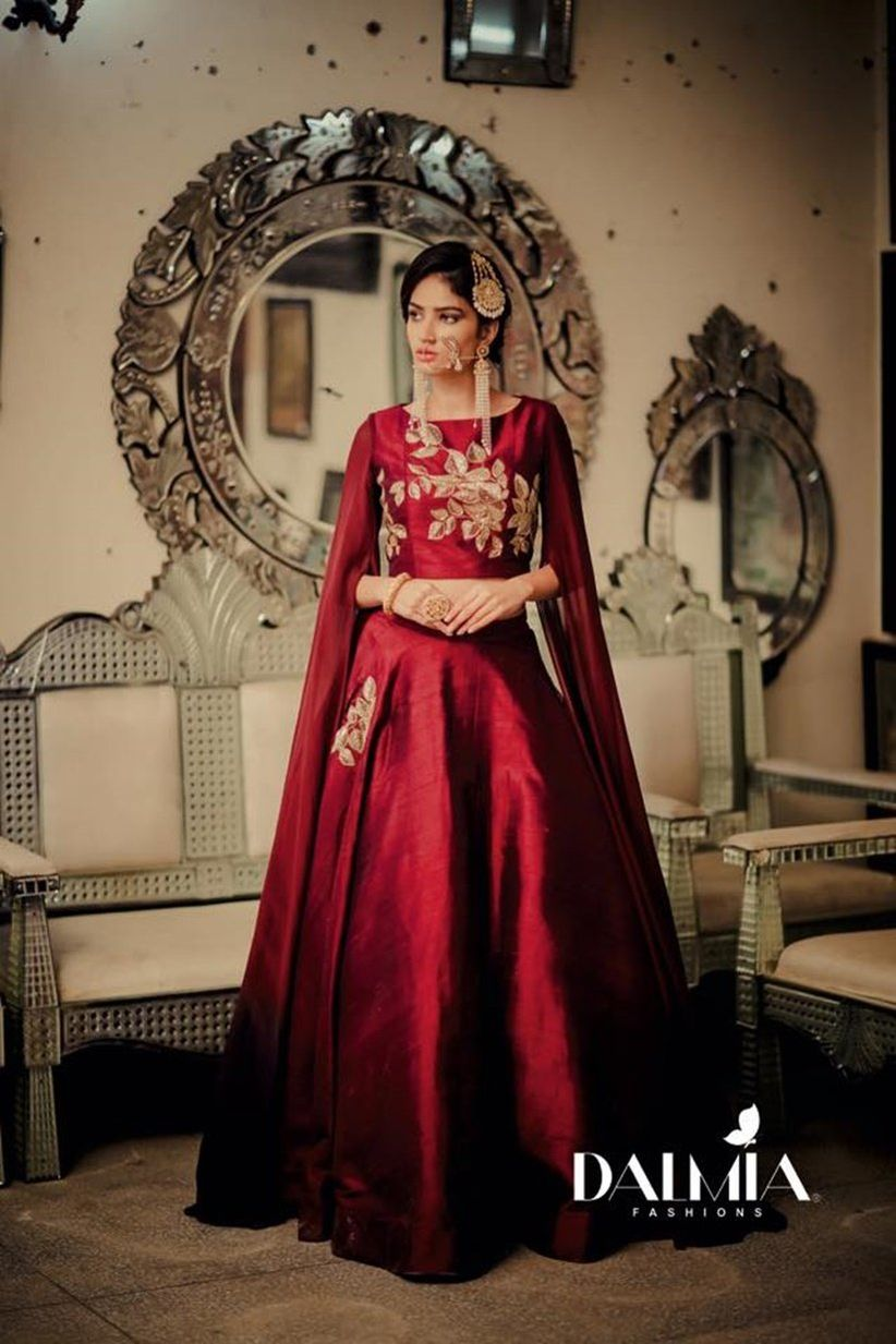 Think Different Stunning Indo Western Dress For Bride Who Wants To