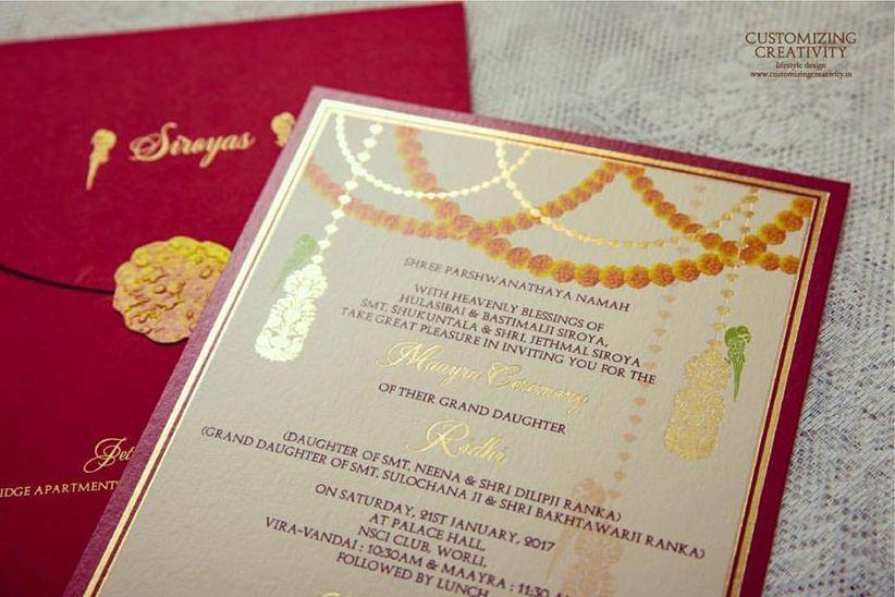 5 Traditional Marathi Wedding Card Designs For A Creative Yet
