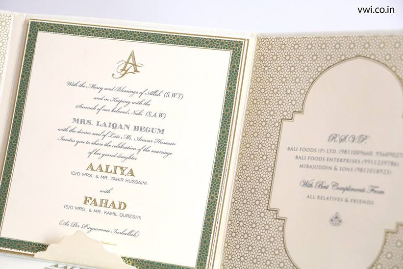 What Goes Into A Wedding Invitation: All The Muslim Wedding Invitation Cards Details That Go