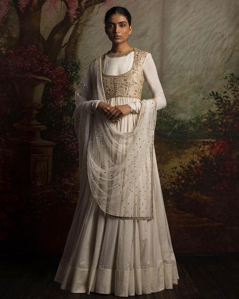 White Indian Wedding Dresses: 17 Sabyasachi Anarkali Dresses That Are #BridalGoals For