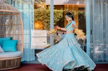10 Dazzling Light Blue Lehenga Images to Inspire You for Your Wedding Functions