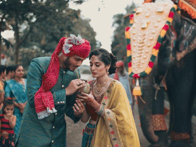 Nishtha and Nirmal's wedding in Rajkot, Gujarat 8