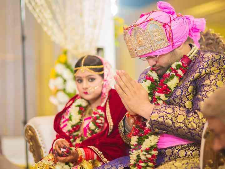 The wedding of Vishakha and Aman
