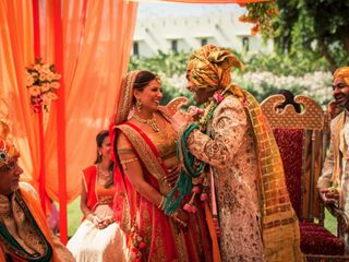 The wedding of Aarti and Kishan