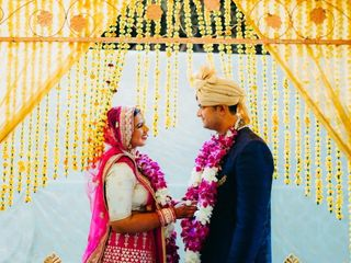 The wedding of Anubha and Pratham