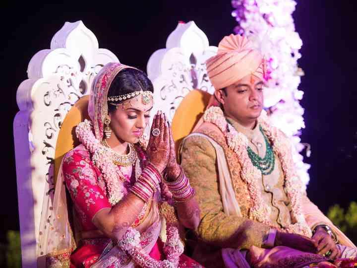 The wedding of Esha and Manu
