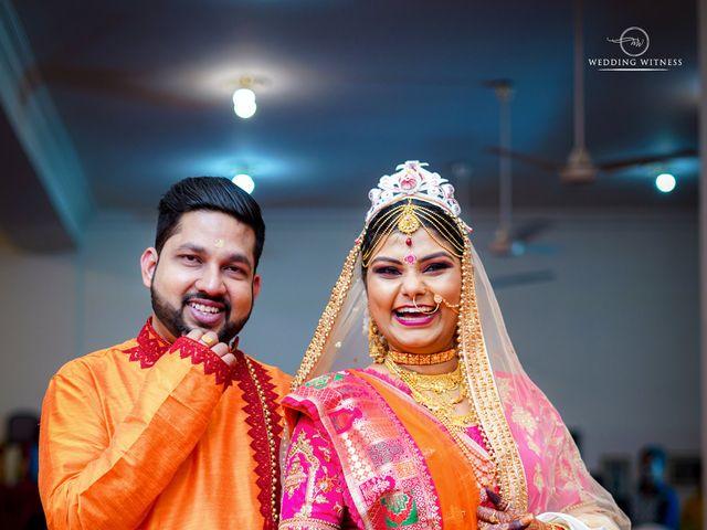 The wedding of Sanchari and Debanik