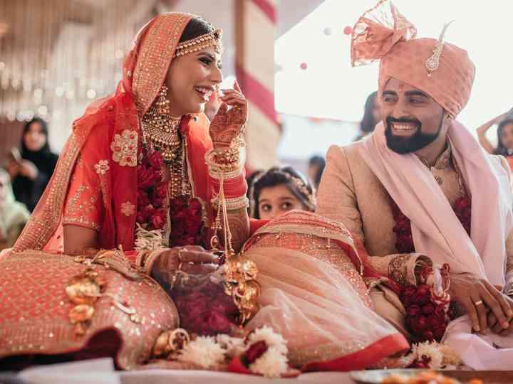 The wedding of Ritu and Kush