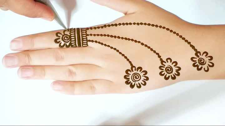 Mehndi designs for mom and Mother in law - 1