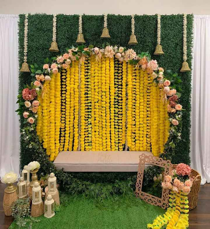 Floral Decor For Mehndi Function - 1