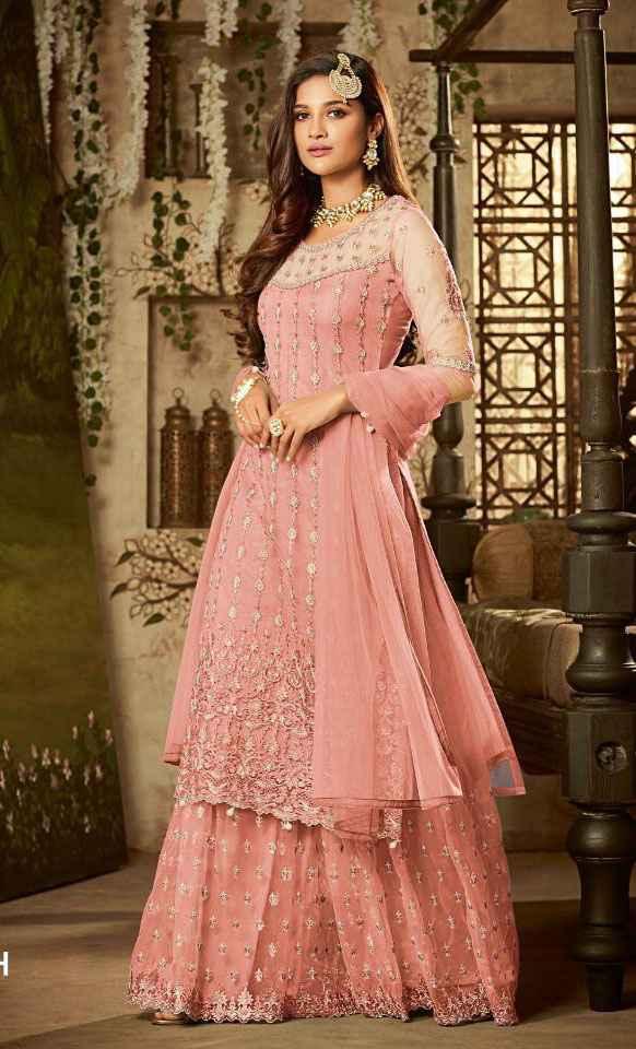 i am lookimg for Pink Sharara Designs! - 1
