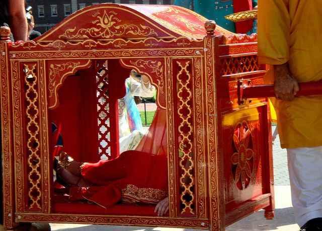 Bridal entry in a Palki! Help me decide the best design - 1