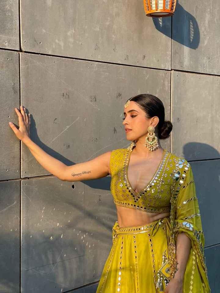 #Celebritystyle: Sanya Malhotra spotted wearing the 'moss Green Lehenga Set' - 3