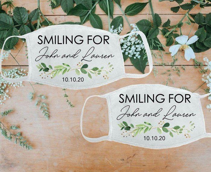 Customized wedding face mask! - 1
