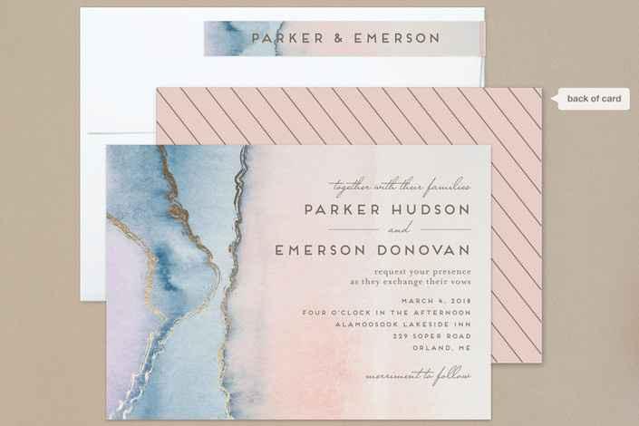 Pastel Shade Wedding Invite Suggestions - 1
