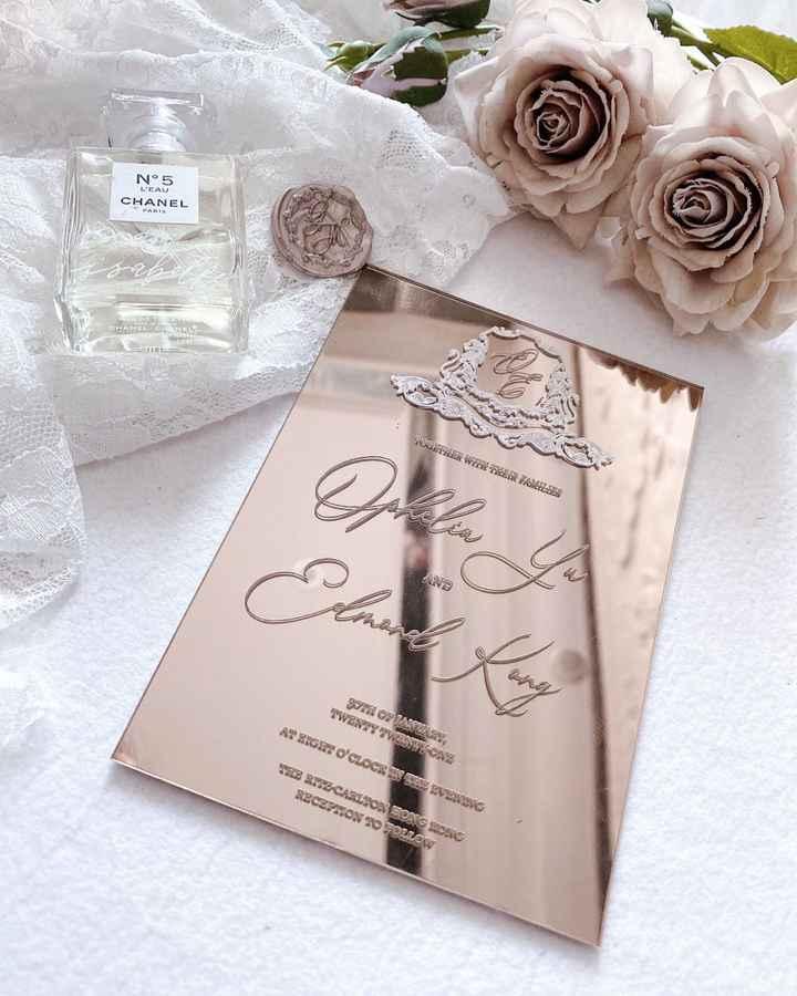 Rose gold mirror card - 1