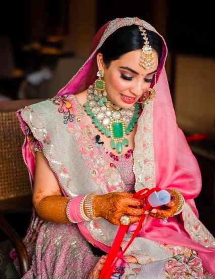 Wedding Lehenga + Jewellery= a Treat to our wedding fashion eyes!! i - 1