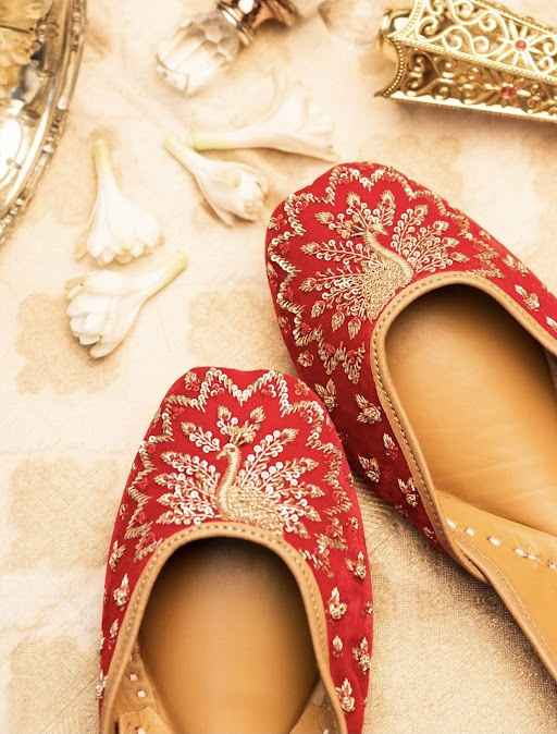 i love everything about red and ofcourse this royal red jutti! - 1