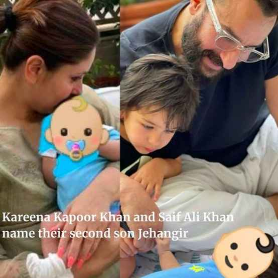 Kareena Kapoor Khan and Saif Ali Khan named their second son - Jehangir 👶 - 1