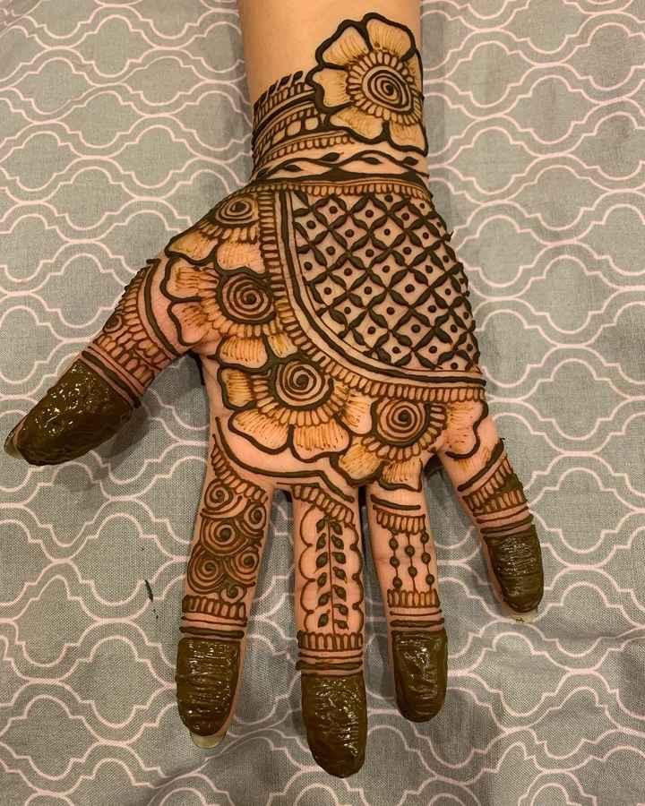 Such a pretty henna hand ya! - 1