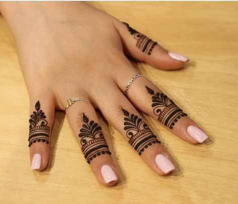 Finger mehndi designs - 1