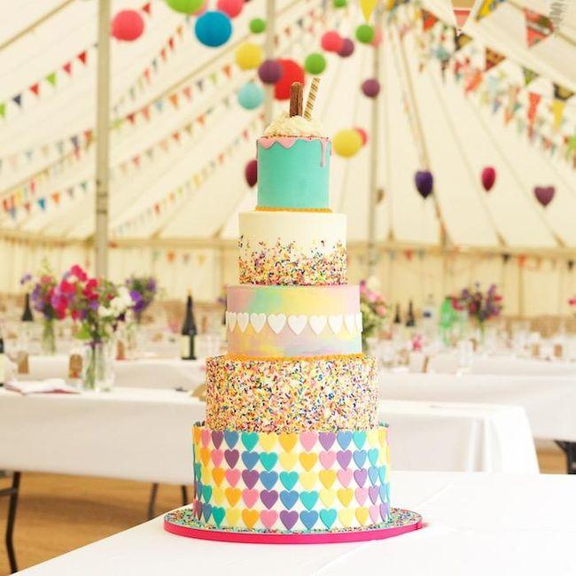 Rainbow wedding cake! - 1