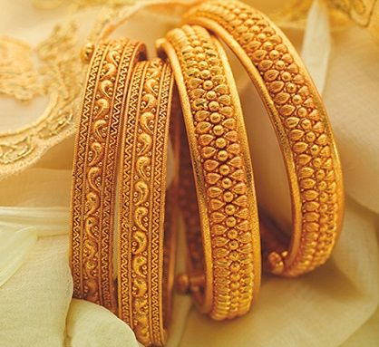 Golden Bangle Designs! - 1