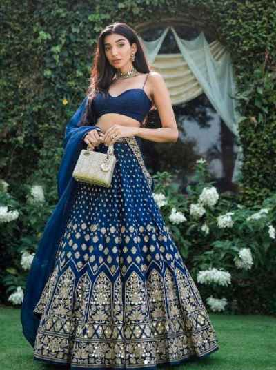 This blue lehenga is perfect for a Bride's sister or Best friend!! - 1