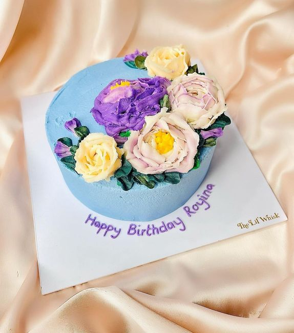 All the way to Blue Floral Cake - 1