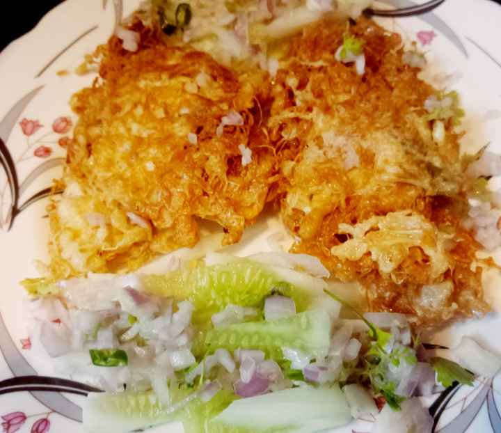 Has anyone tried Fish cutlets deep fried with egg batter in a net-shaped cover? - 1