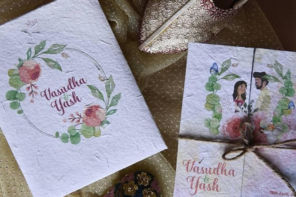 Seed Paper Invites by Plantables, Delhi