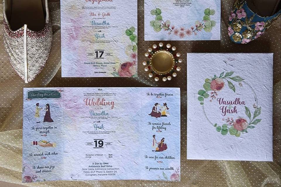 Seed Paper Invites by Plantable, Bangalore